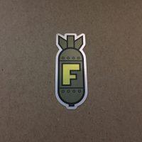 F-bomb sticker green