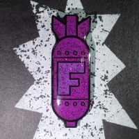 Purple Sparkle F-bomb pin
